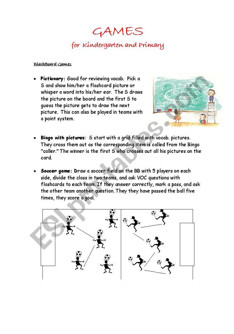 Games for Kindergarten and Primary