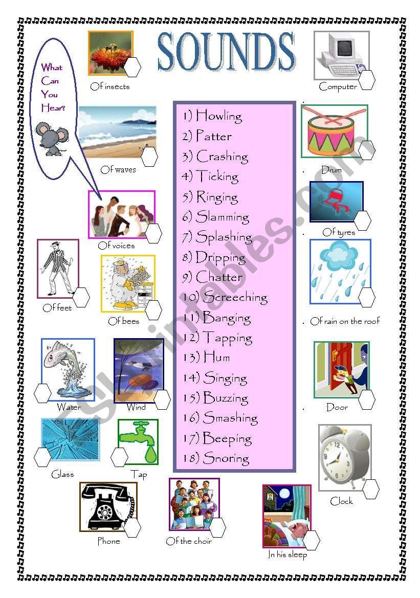 Describing Sounds worksheet