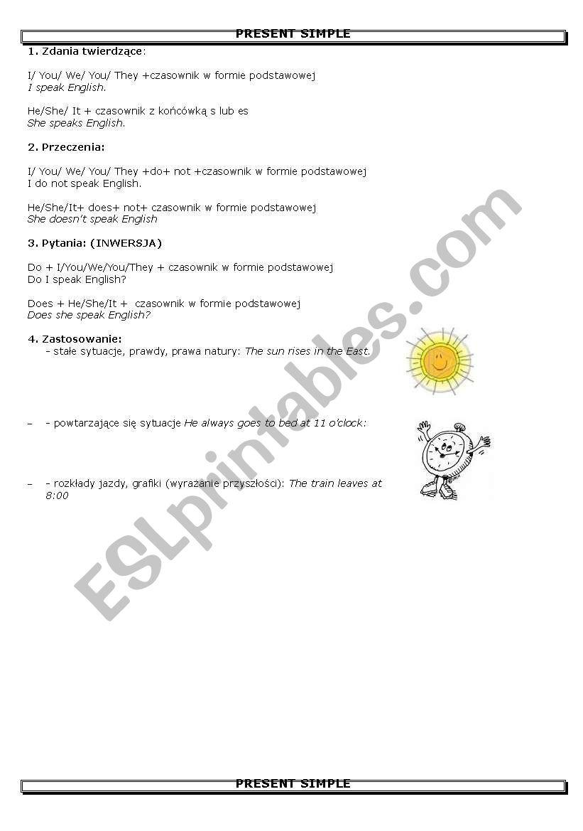 present simple definition worksheet