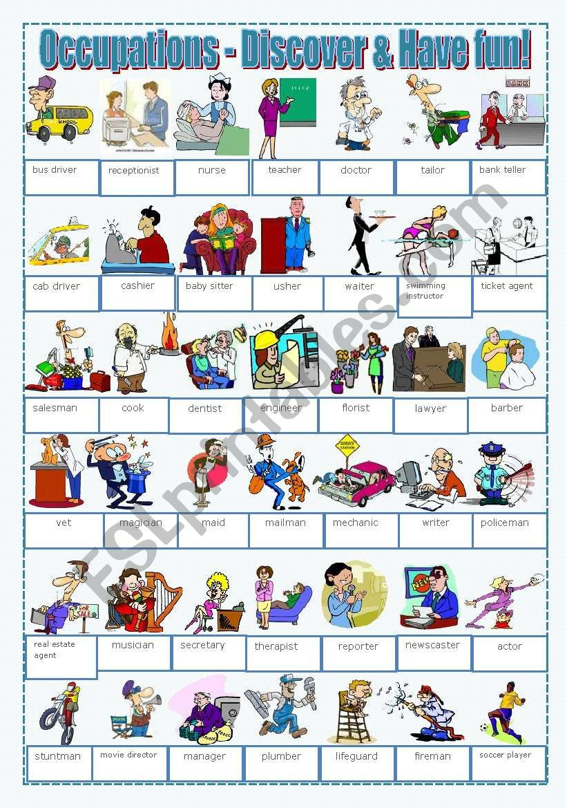Occupations - Discover and have fun!