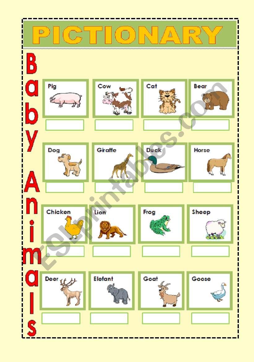 Baby Animals 2 worksheet