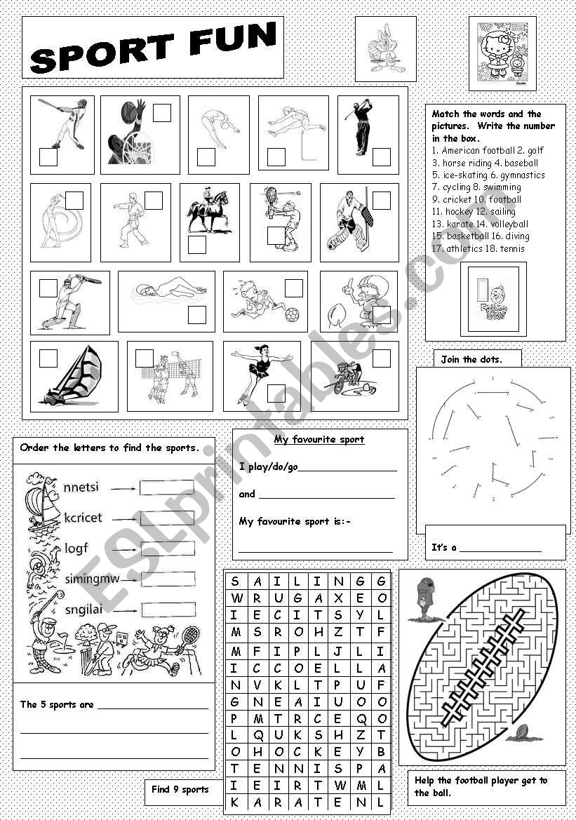 Sports Fun worksheet