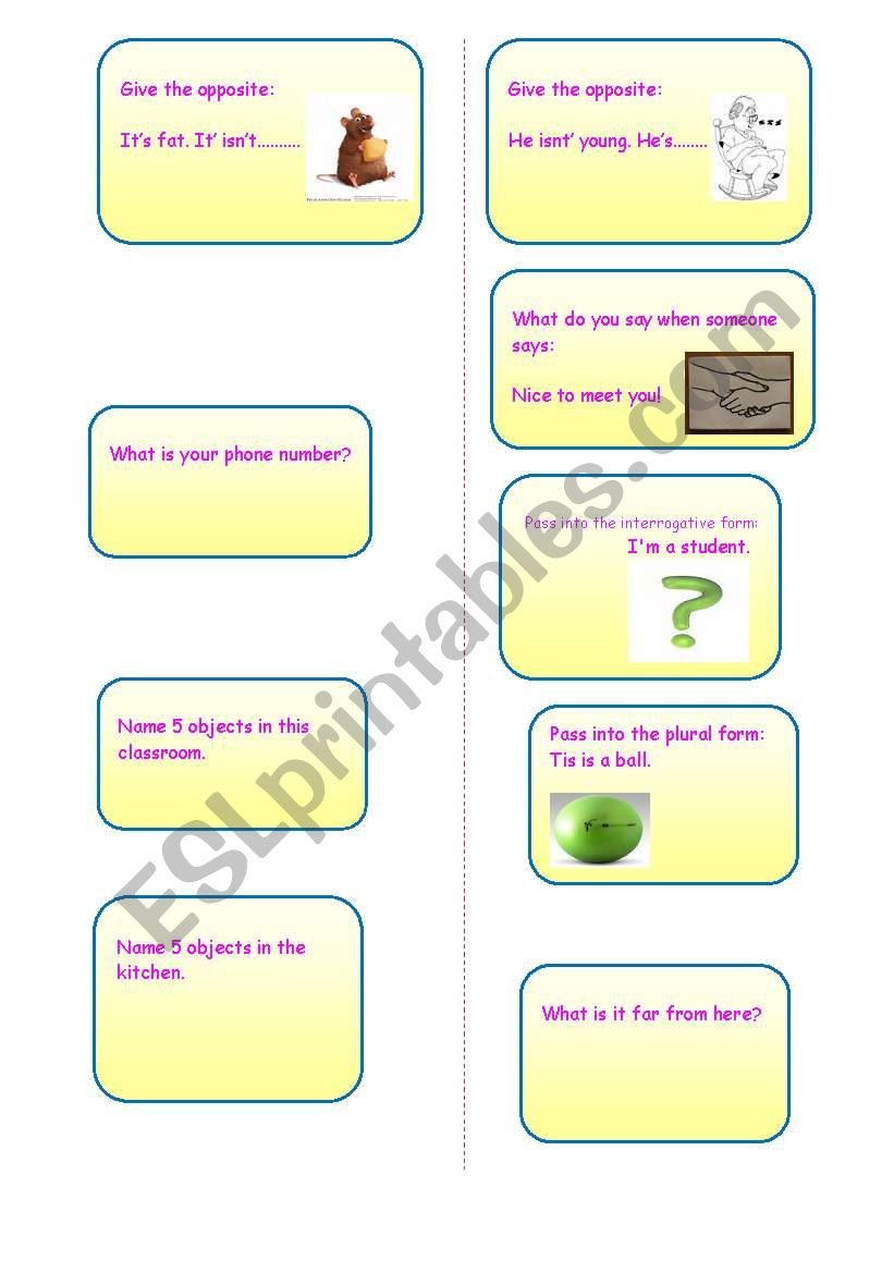role play worksheet