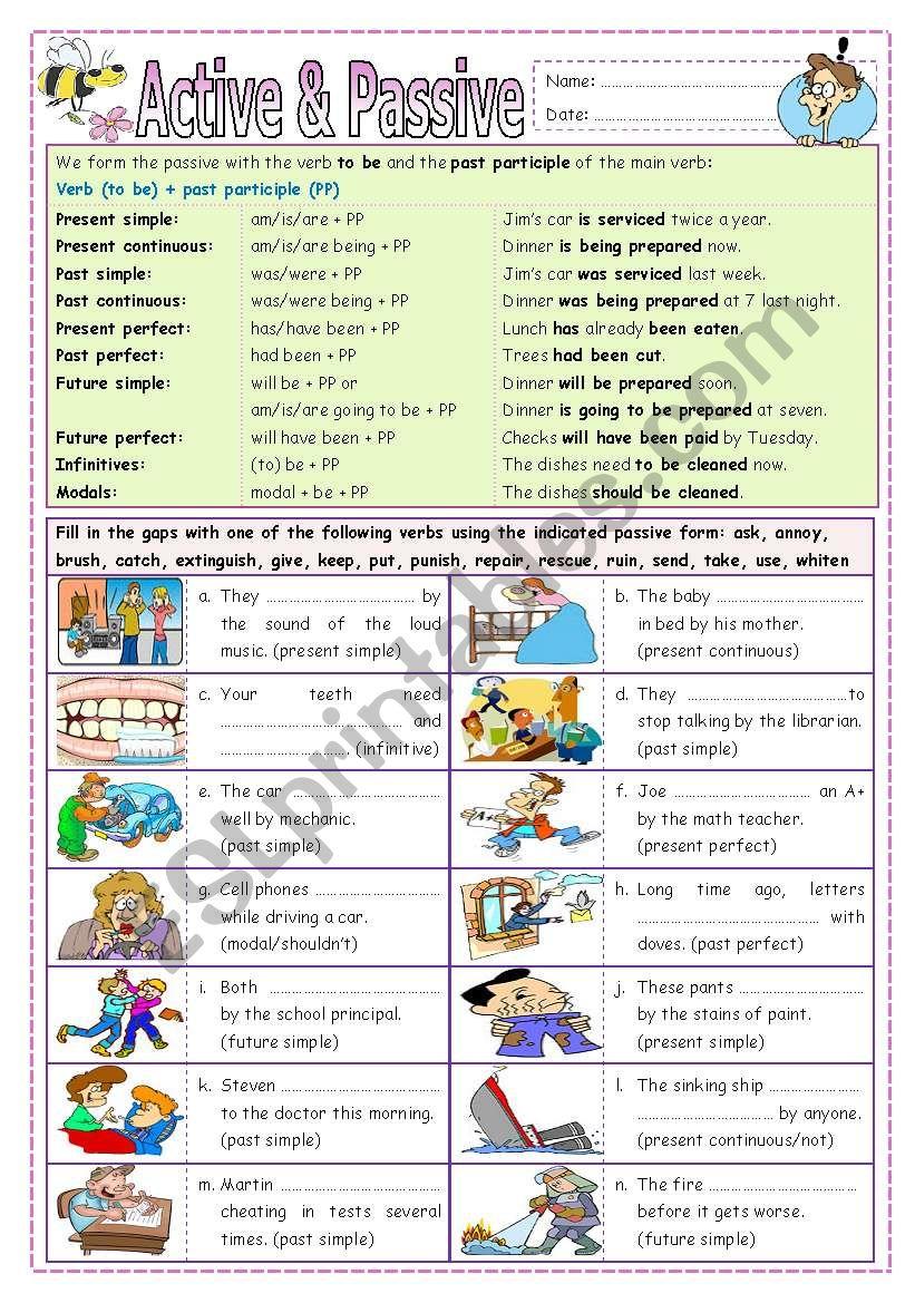 Active & Passive (part 3) worksheet