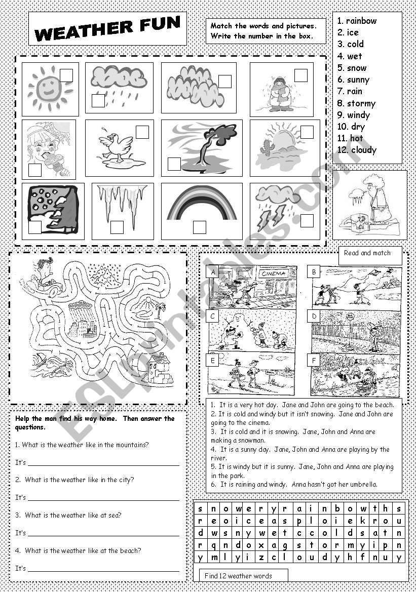 Weather Fun worksheet