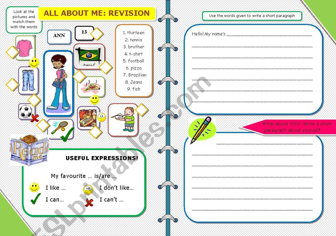 ALL ABOUT ME: REVISION (17 / 5 / 09)
