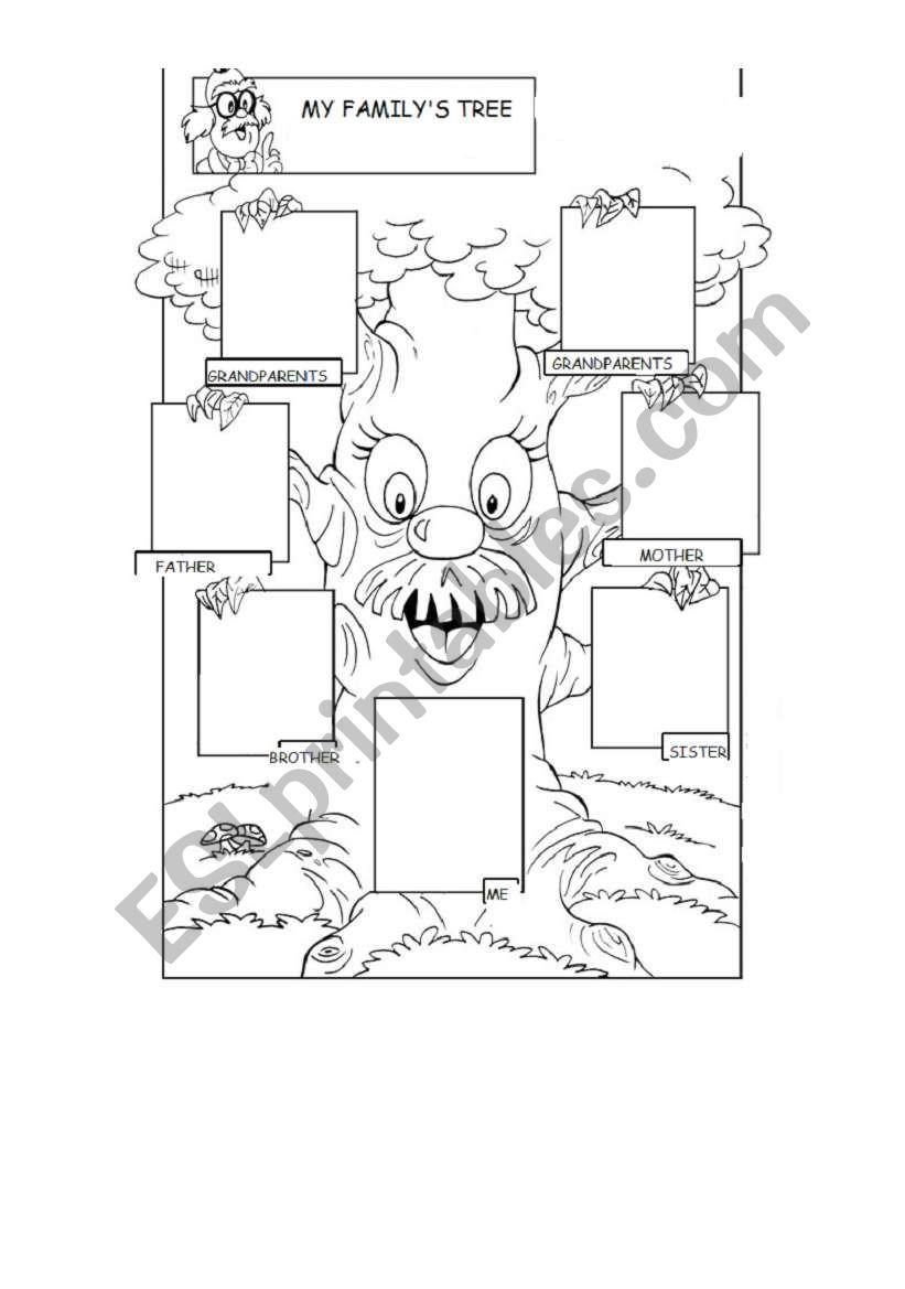 MY FAMILY´S TREE worksheet