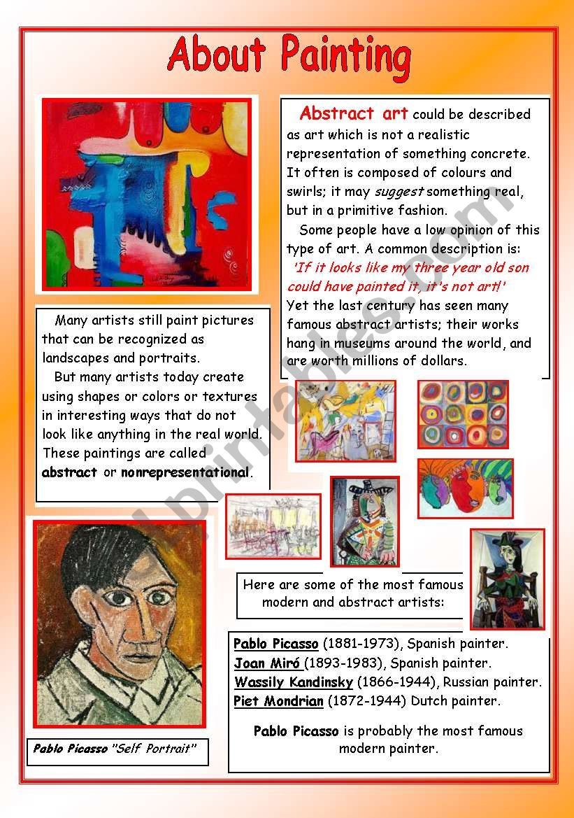 About Painting - Pablo Picasso