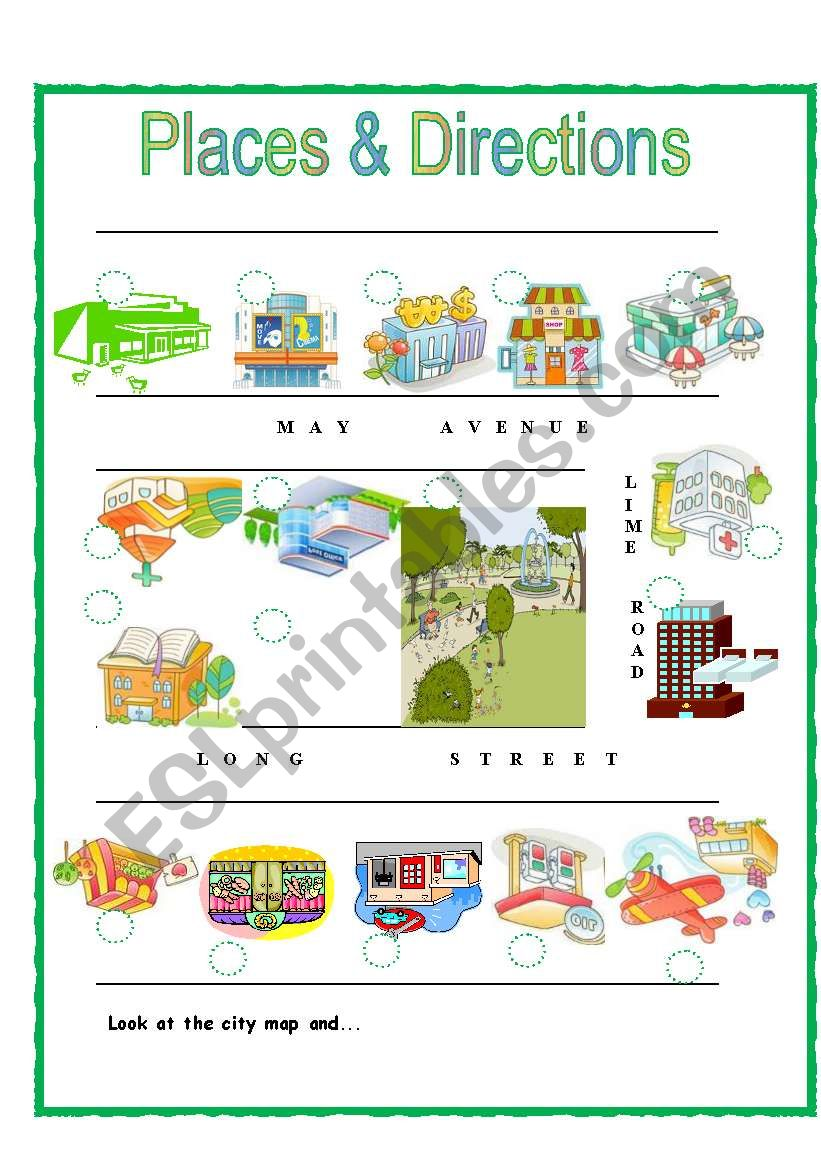 Places & Directions worksheet