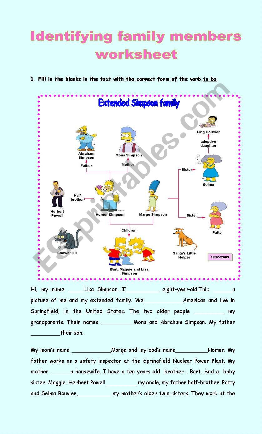19967e19939af Identifying family members - ESL worksheet by mafaldita2009
