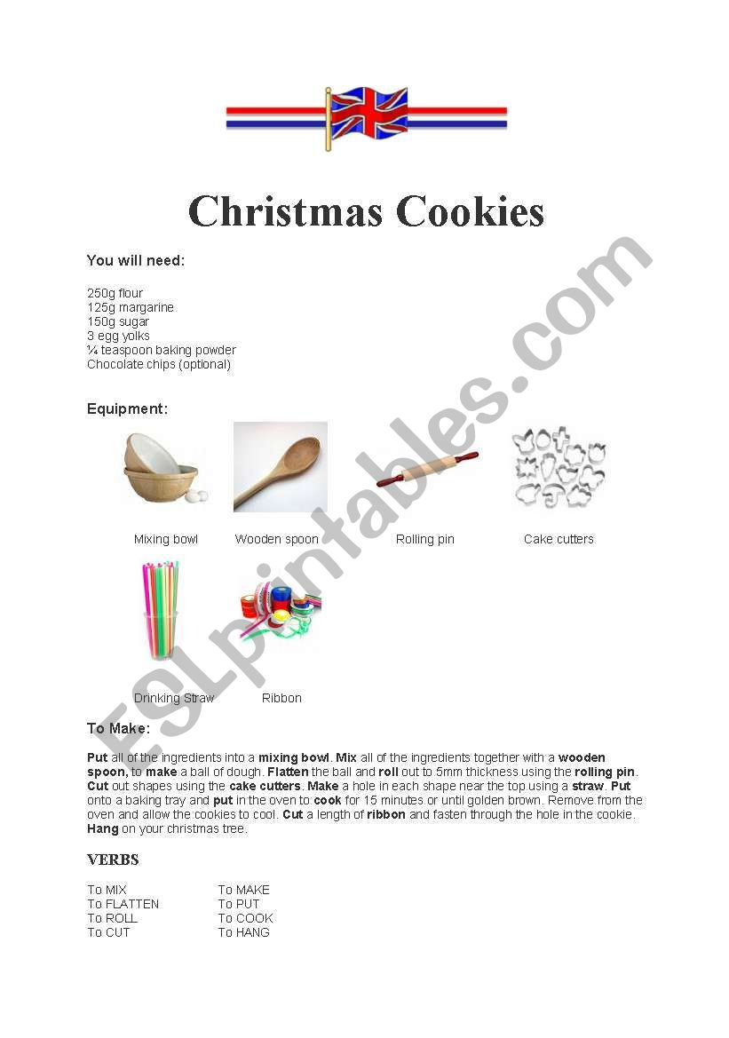 Christmas Cookies worksheet