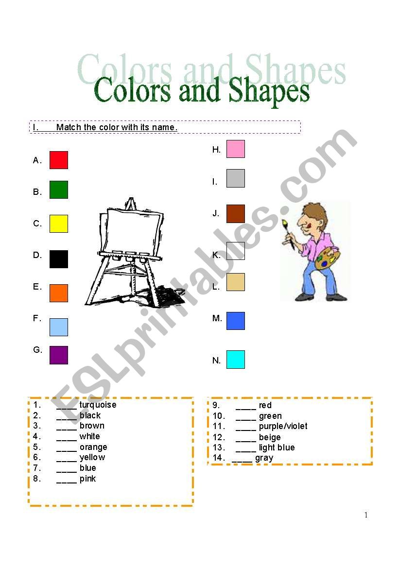 Colors & Shapes Basics (5 full pages!)