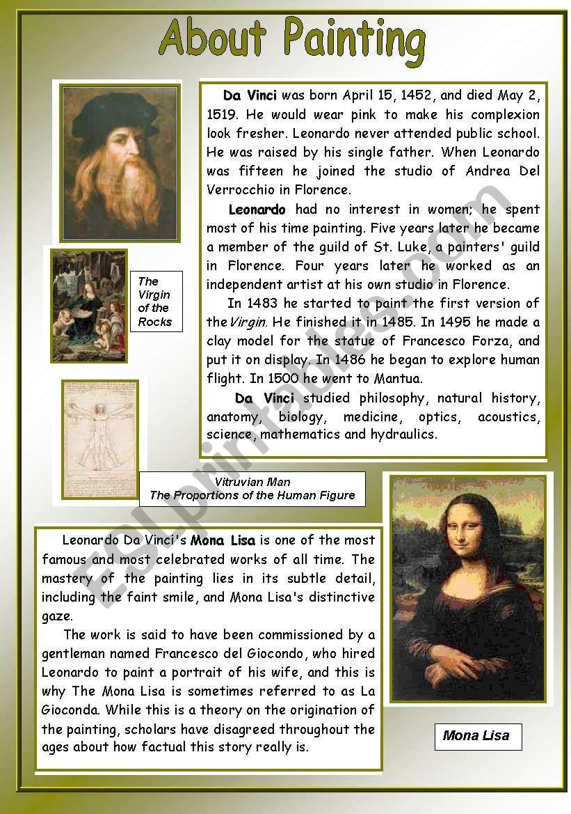About Painting - Leonardo Da Vinci