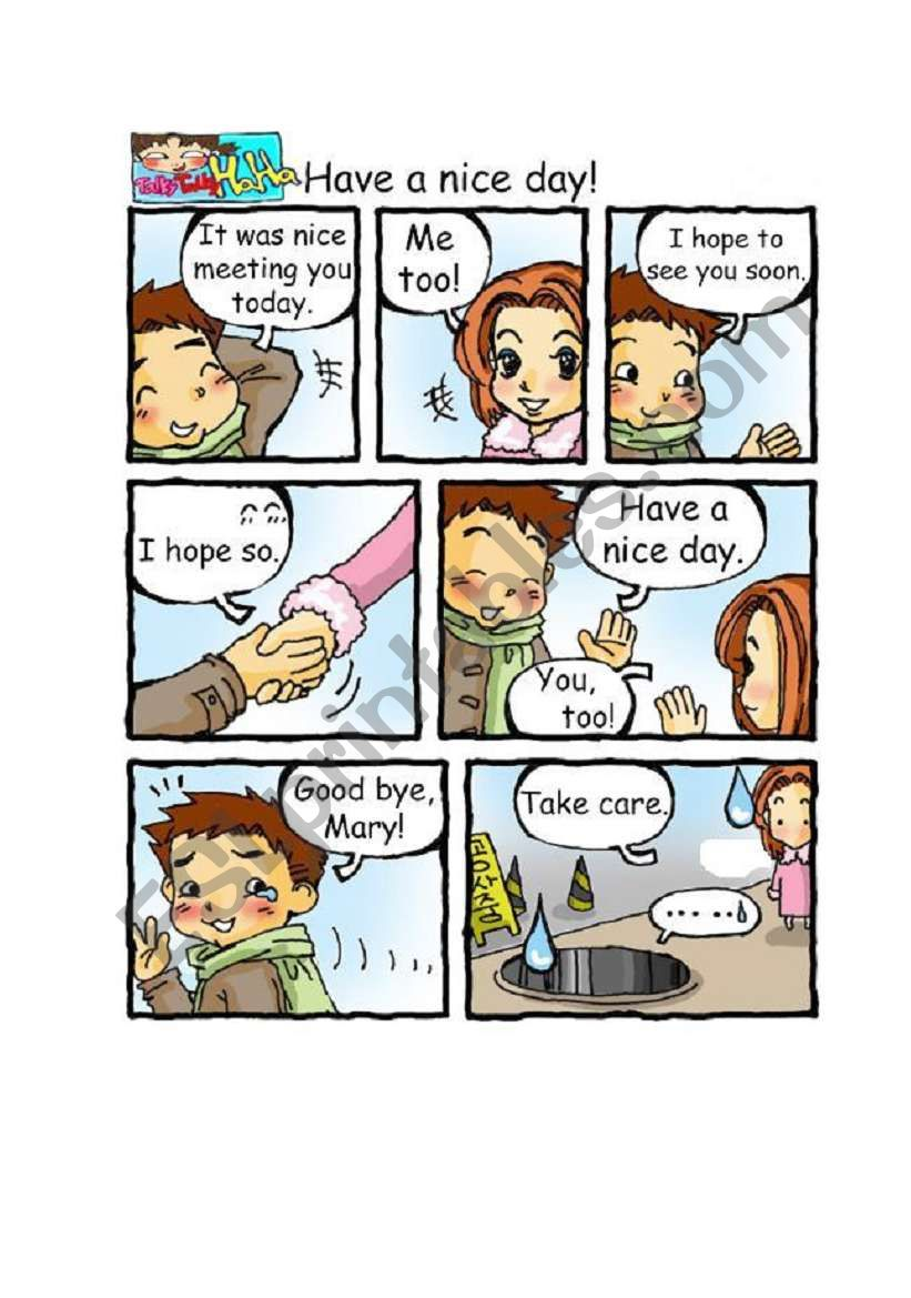 Cartoon English(3pages) worksheet