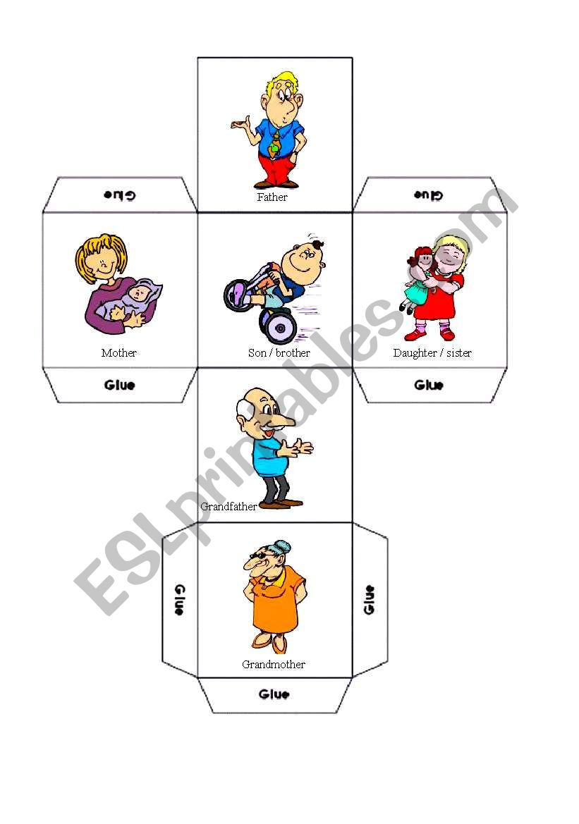 family dice worksheet