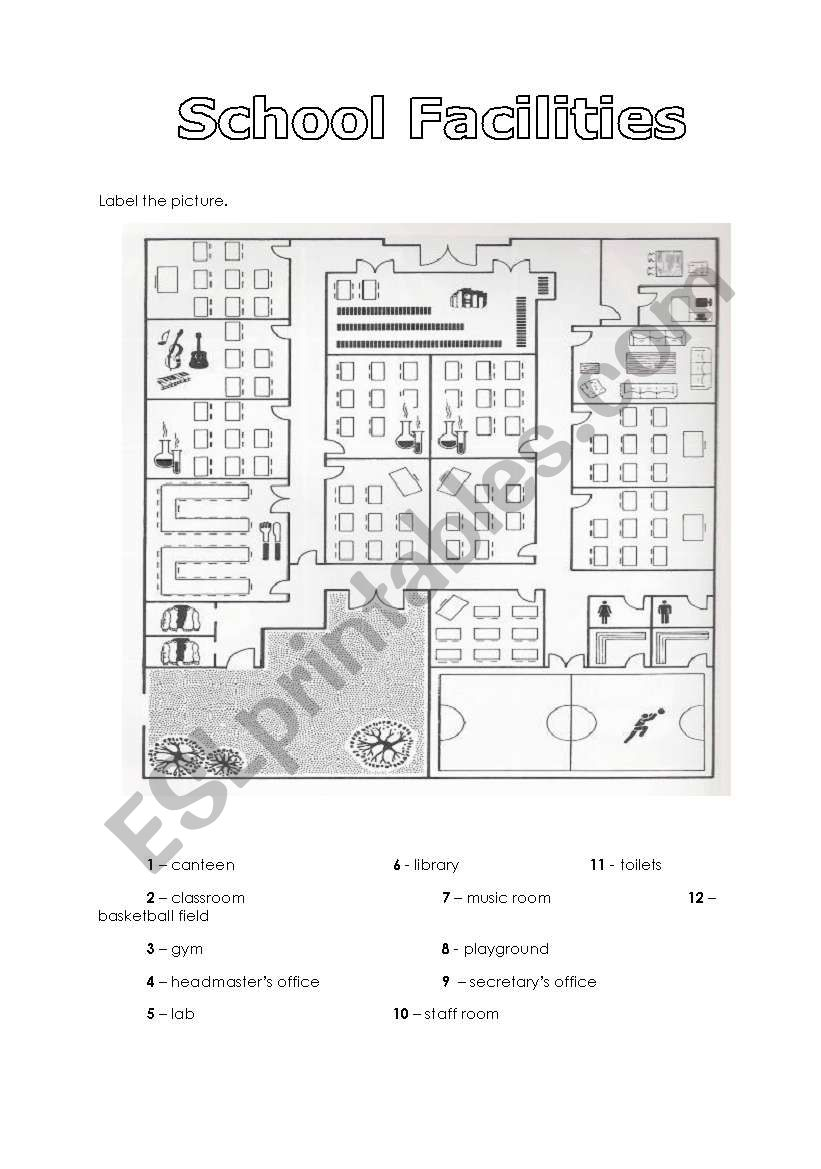 School Facilities worksheet