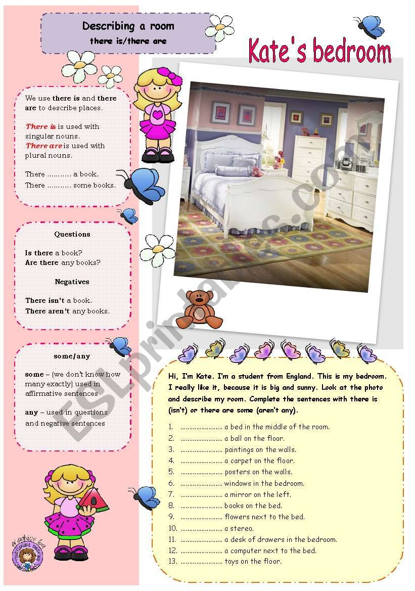 Describing A Room There Isthere Are Esl Worksheet By Aguniaa