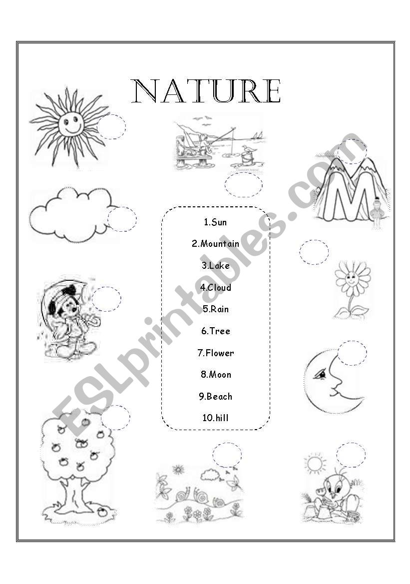 nature esl worksheet by amygm. Black Bedroom Furniture Sets. Home Design Ideas