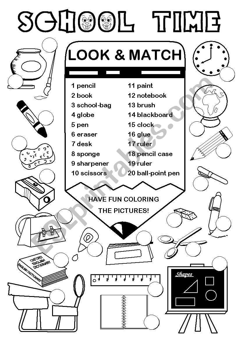 School Time (2/2) worksheet