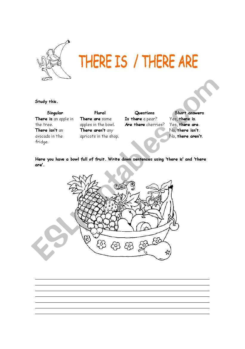 There is - There are worksheet