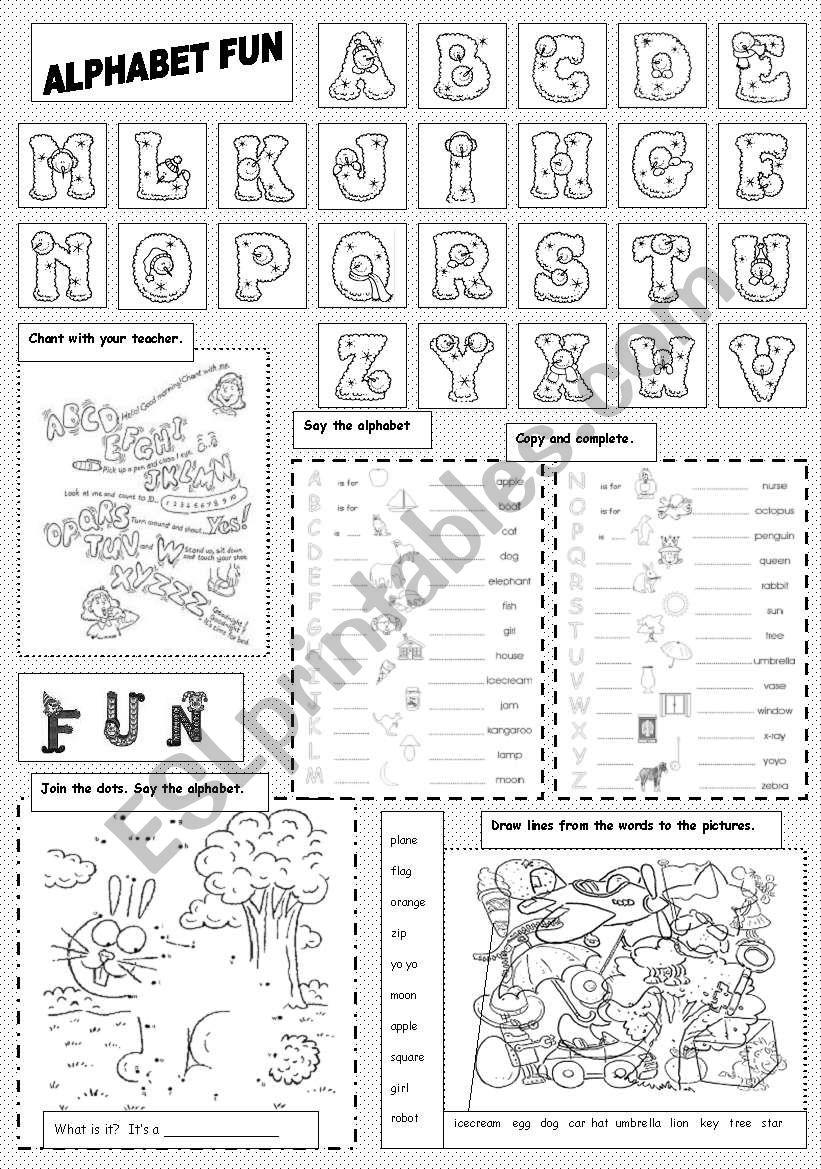 Alphabet Fun worksheet