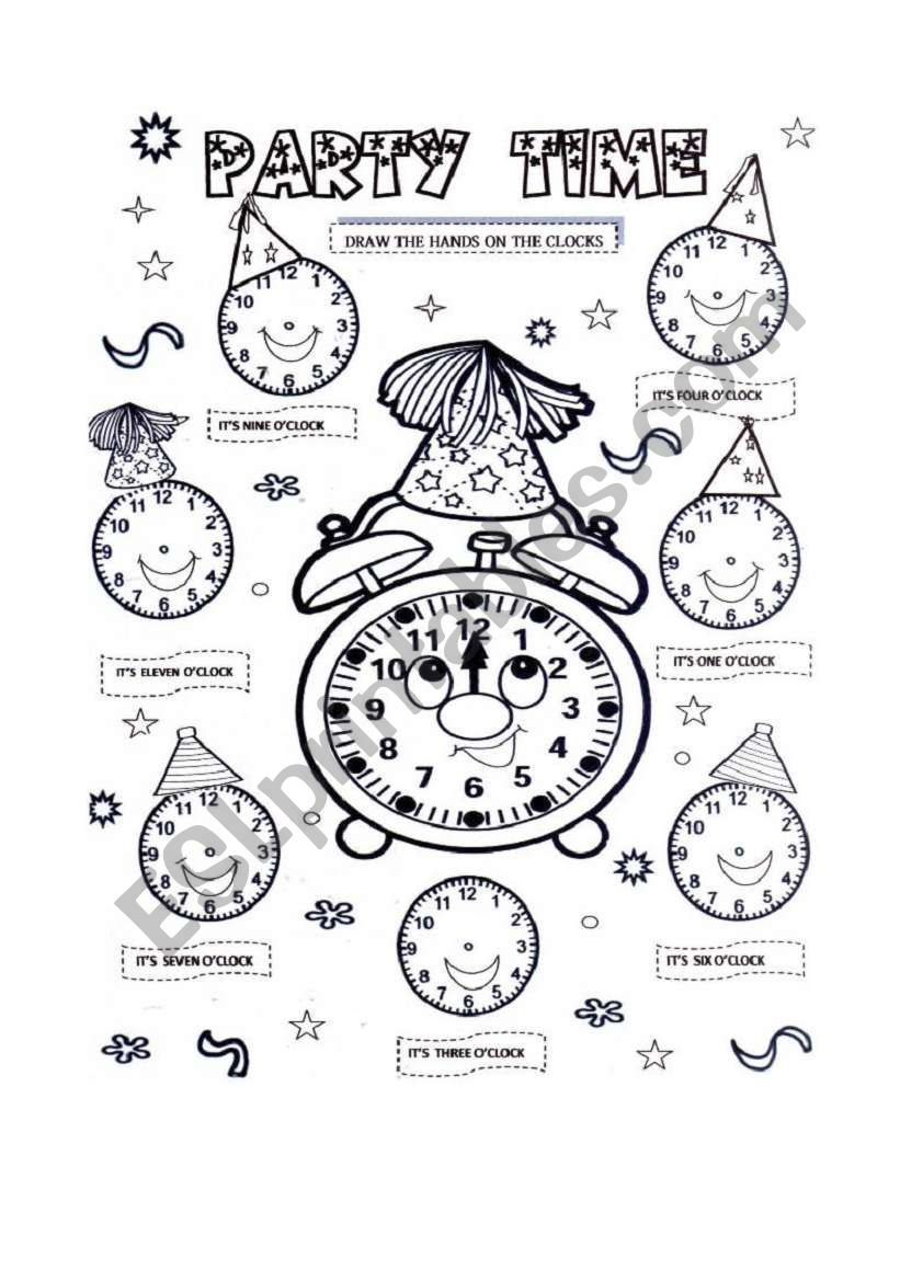 party time worksheet
