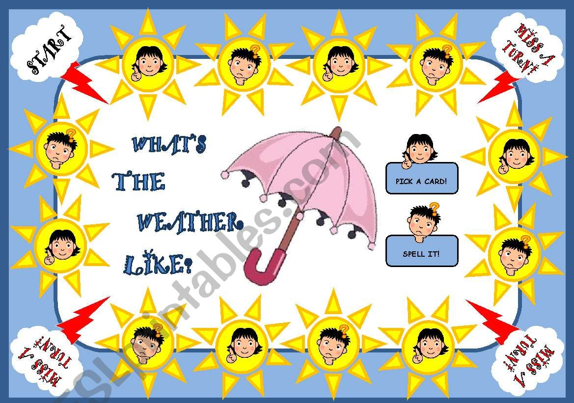 WHAT´S THE WEATHER LIKE? - BOARD GAME (PART 1)