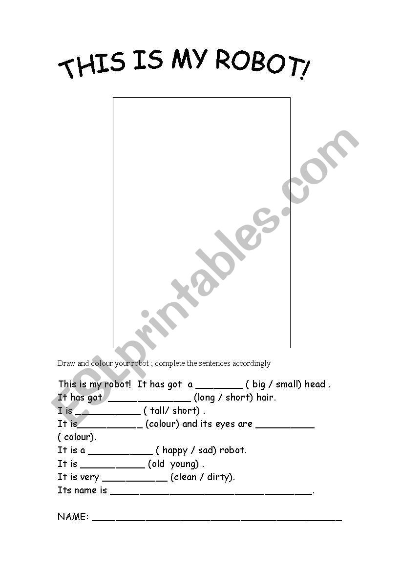 This is my robot worksheet