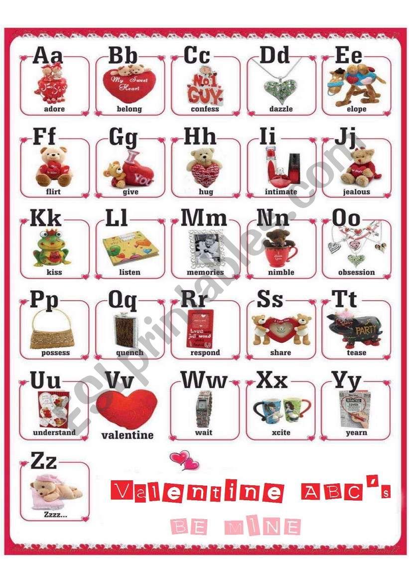 Valentine ABC´s worksheet