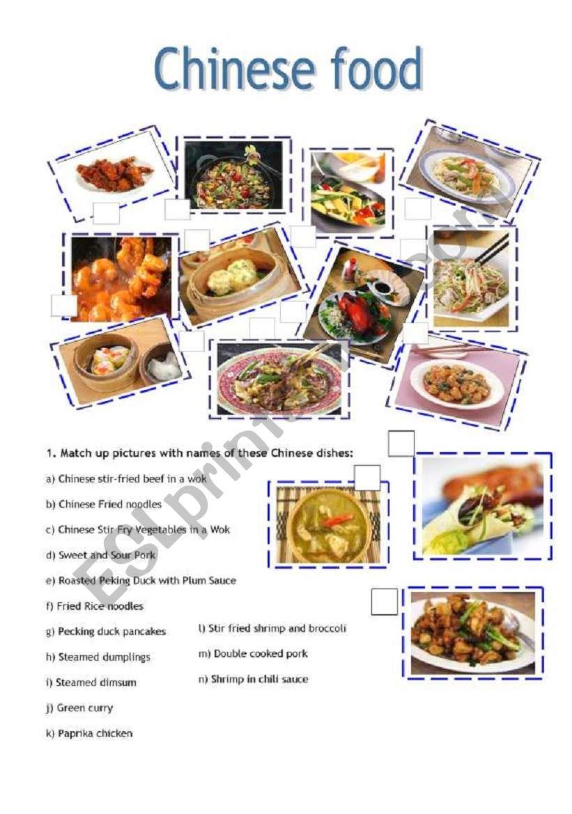 chinese food esl worksheet by borna. Black Bedroom Furniture Sets. Home Design Ideas