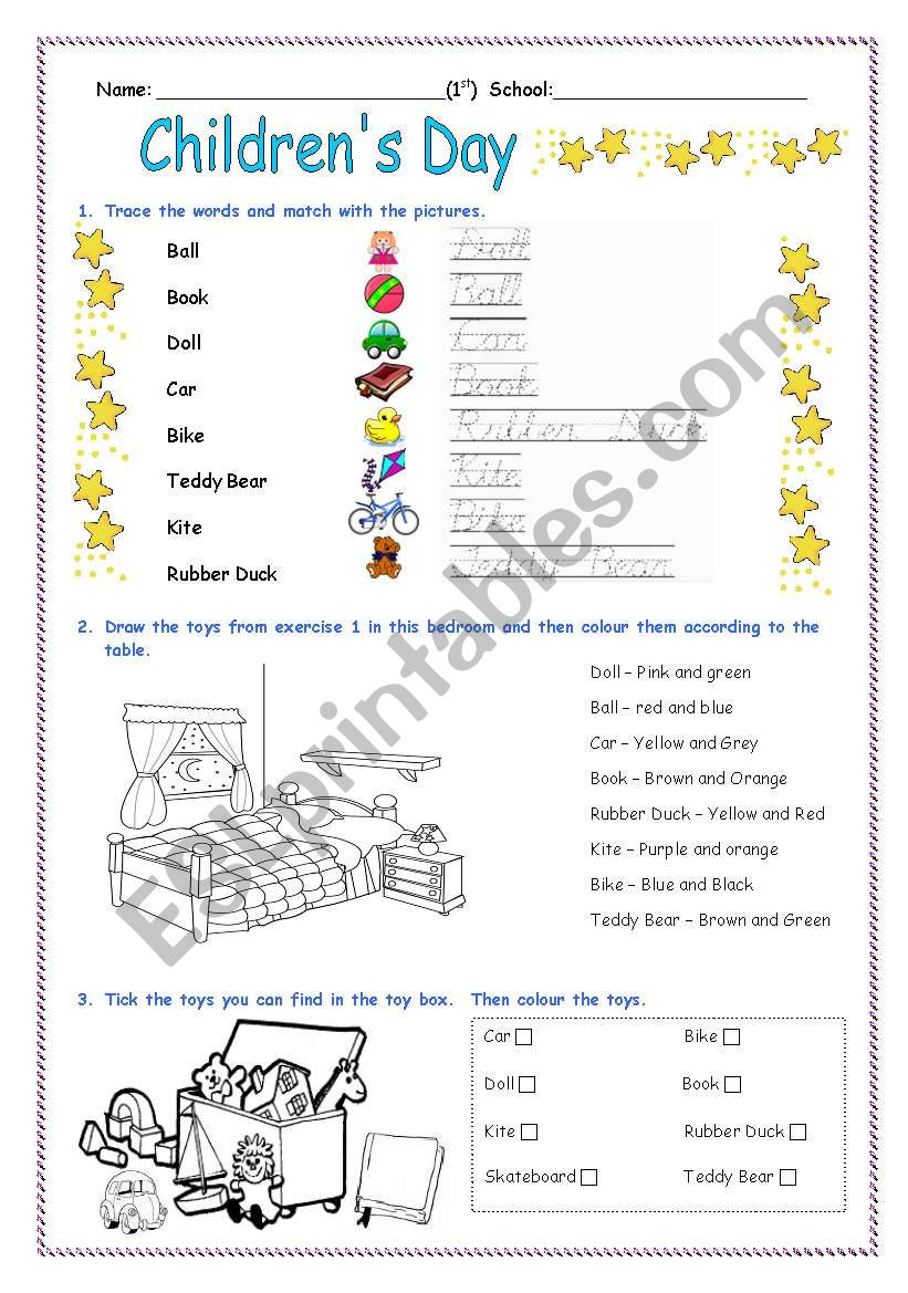 Children´s Day Activity Worksheet - ESL worksheet by Diana ...