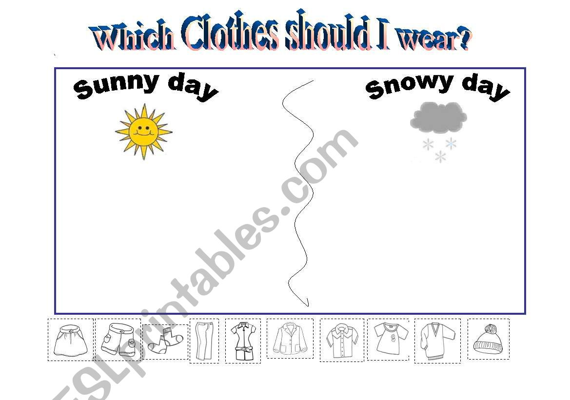 Which clothes should I wear? worksheet