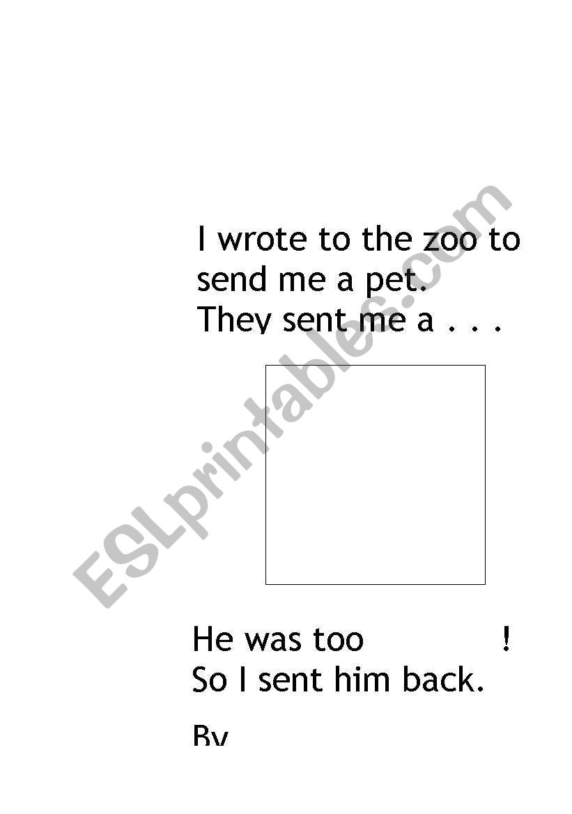 Preview A Text Worksheet : English worksheets dear zoo text innovation