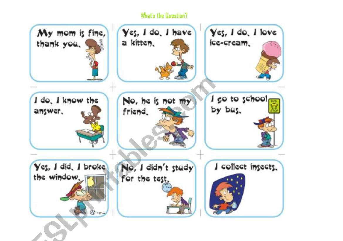 What´s the Question worksheet