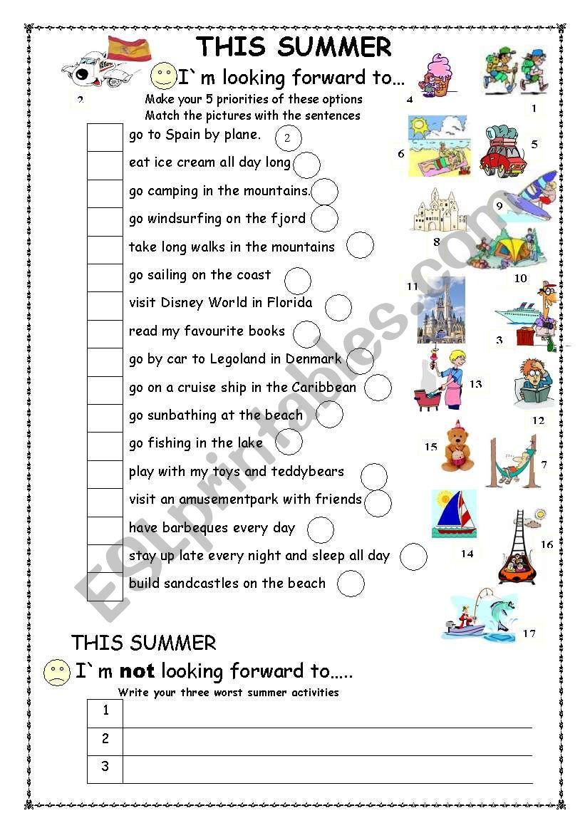 This Summer Esl Worksheet By Sivert 50