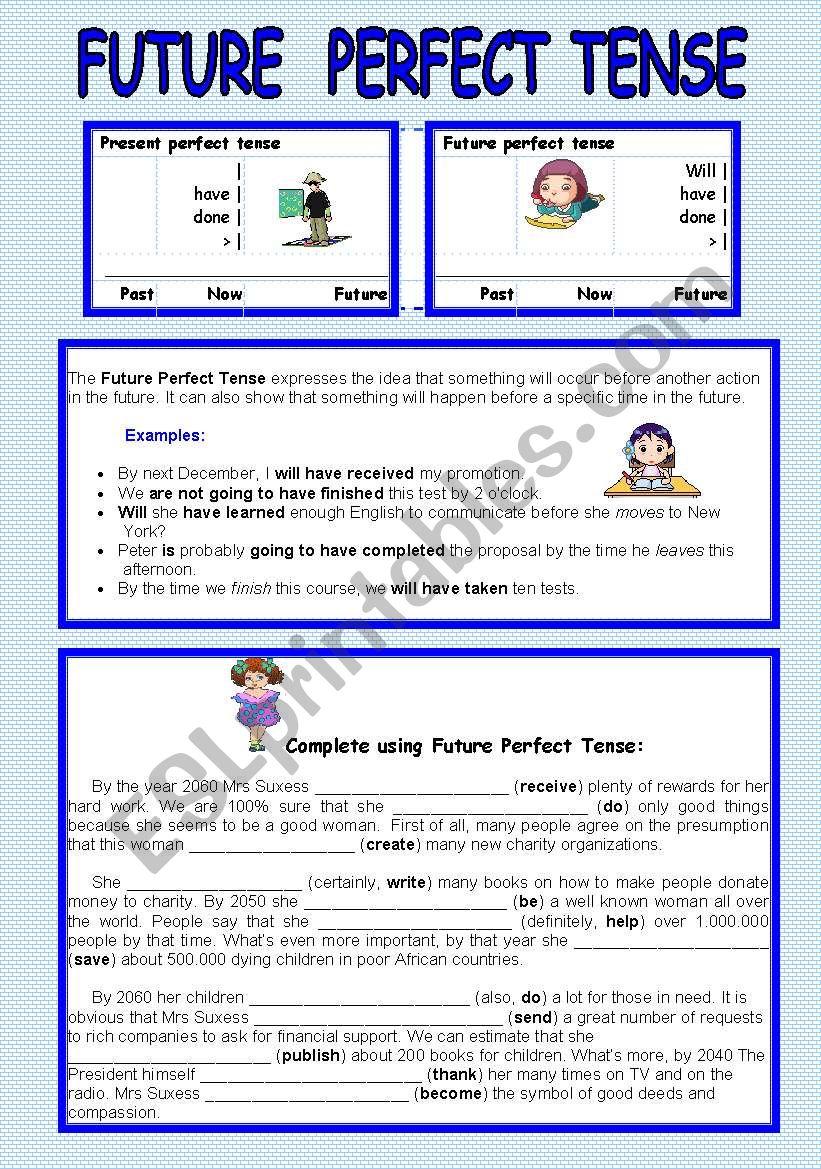 Future Perfect Tense worksheet
