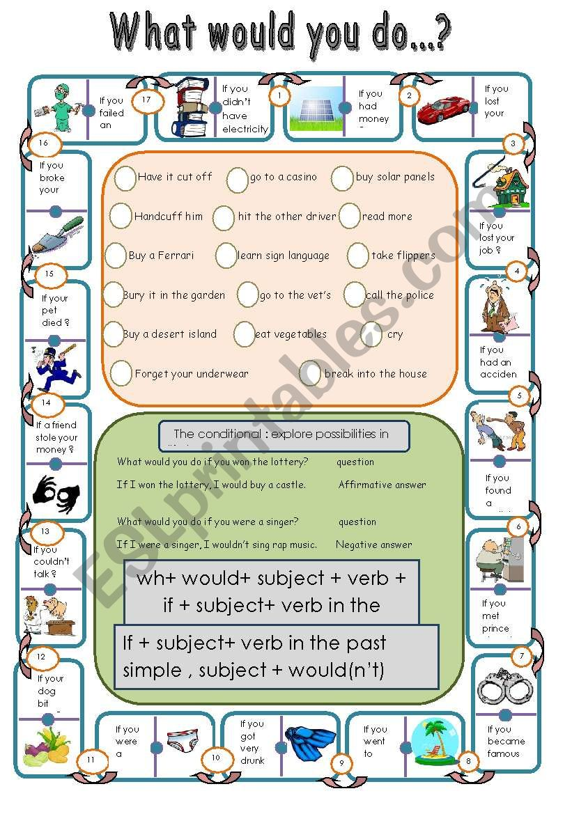 conditional dominoes worksheet