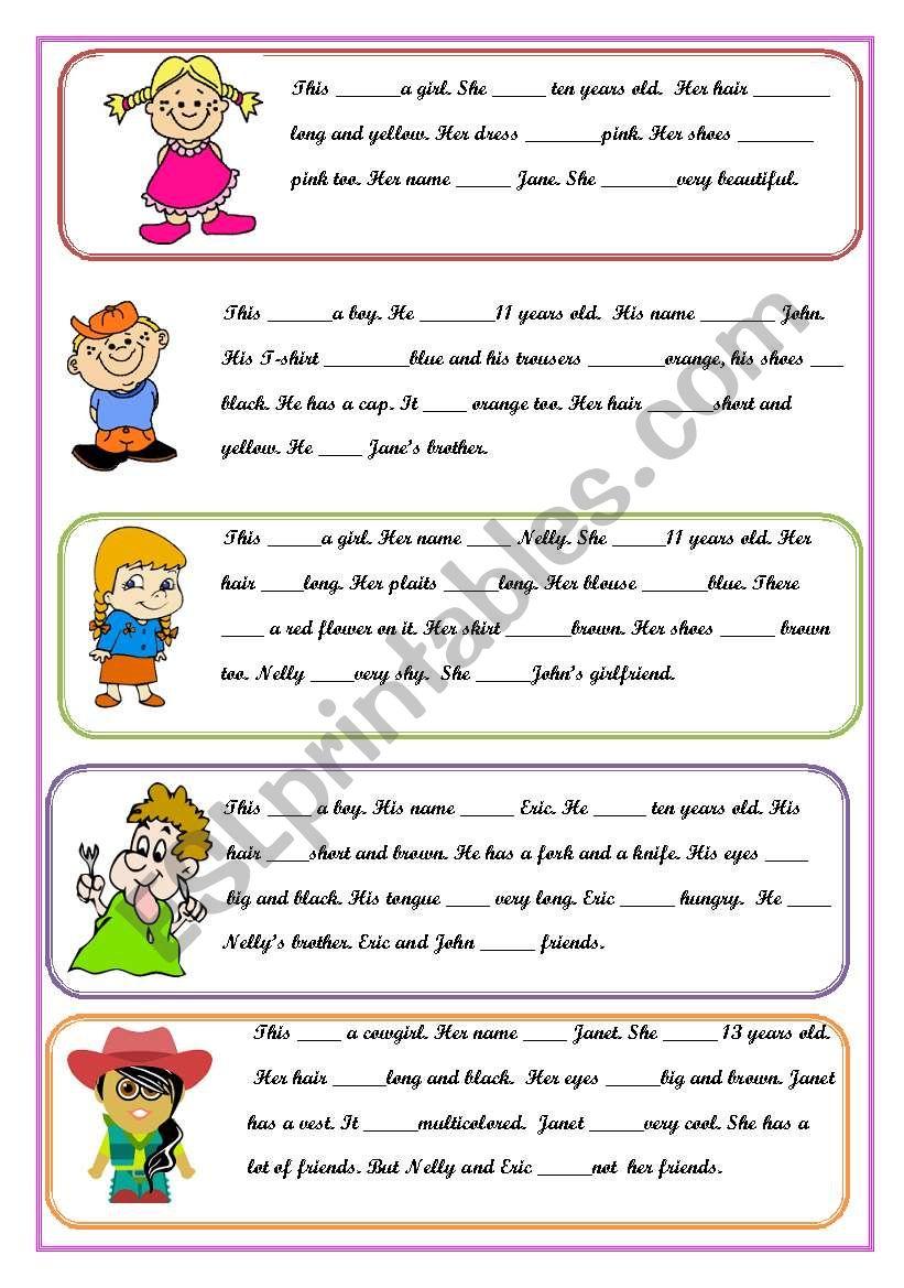 Verb to be Present Simple worksheet