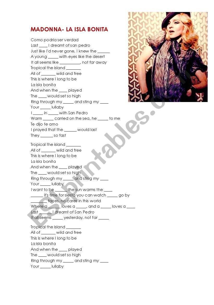 Madonna la isla bonita original mp3 free download.