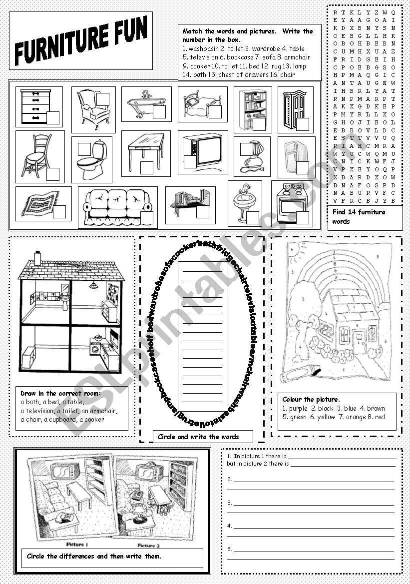 Furniture Fun worksheet