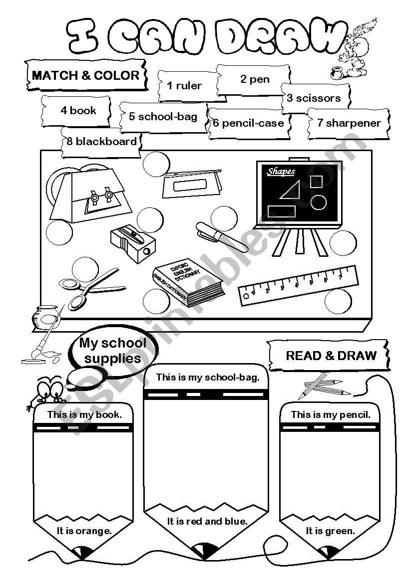I can draw! (series) - school worksheet