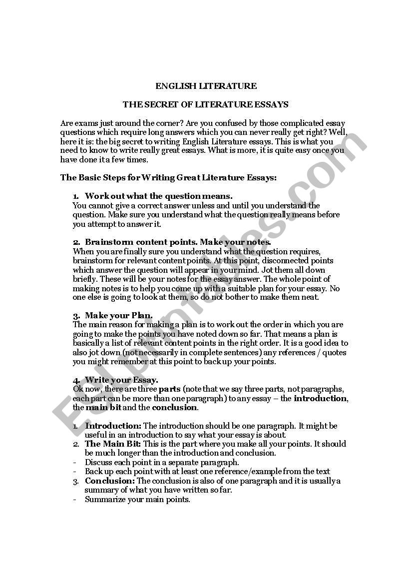 Analytical Essay Thesis  Compare And Contrast Essay On High School And College also Purpose Of Thesis Statement In An Essay English Worksheets Ebenezer Scrooge Secret To Writing Great  Sample Apa Essay Paper