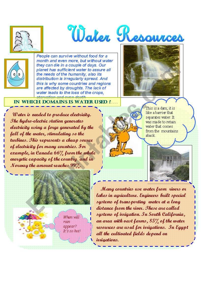Water Resources worksheet