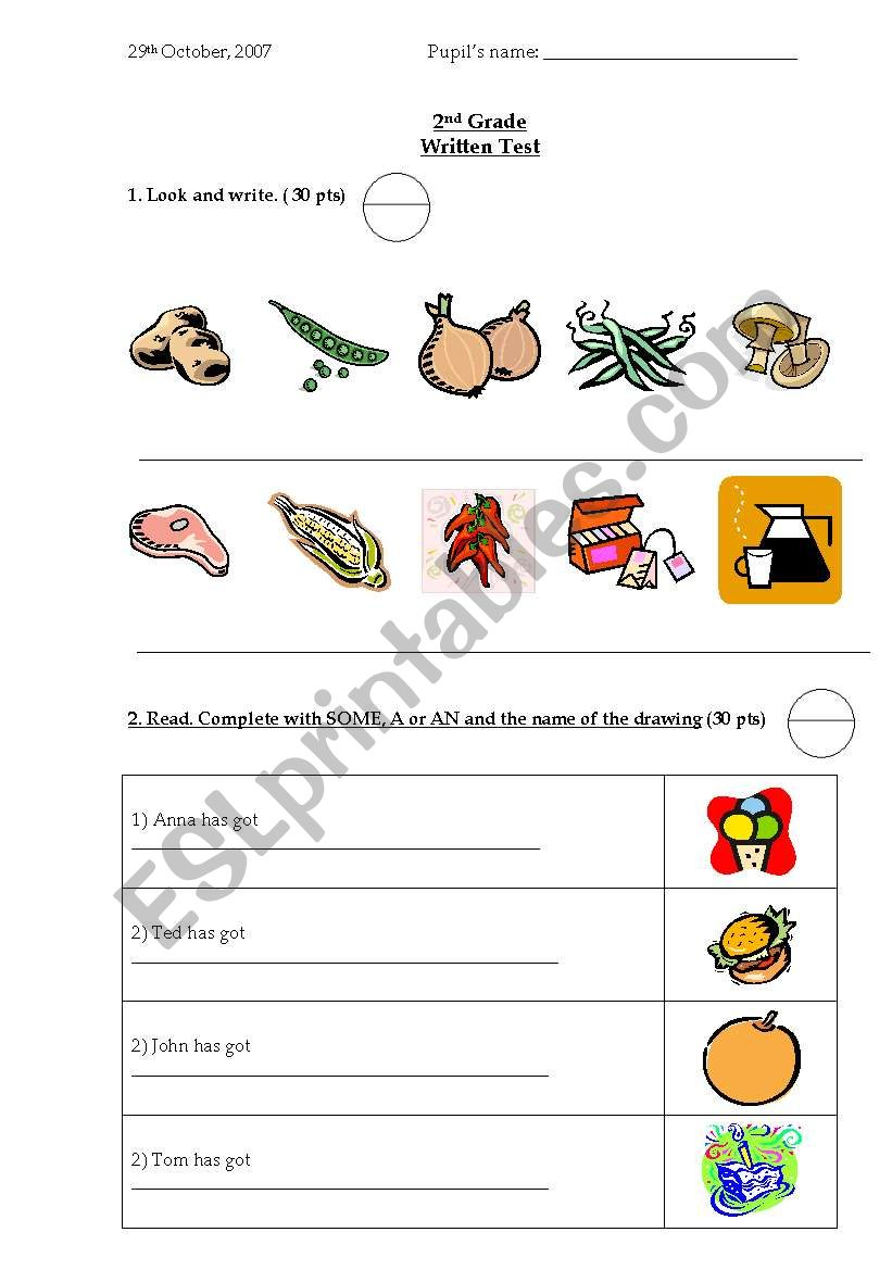 Food - Some&Any worksheet