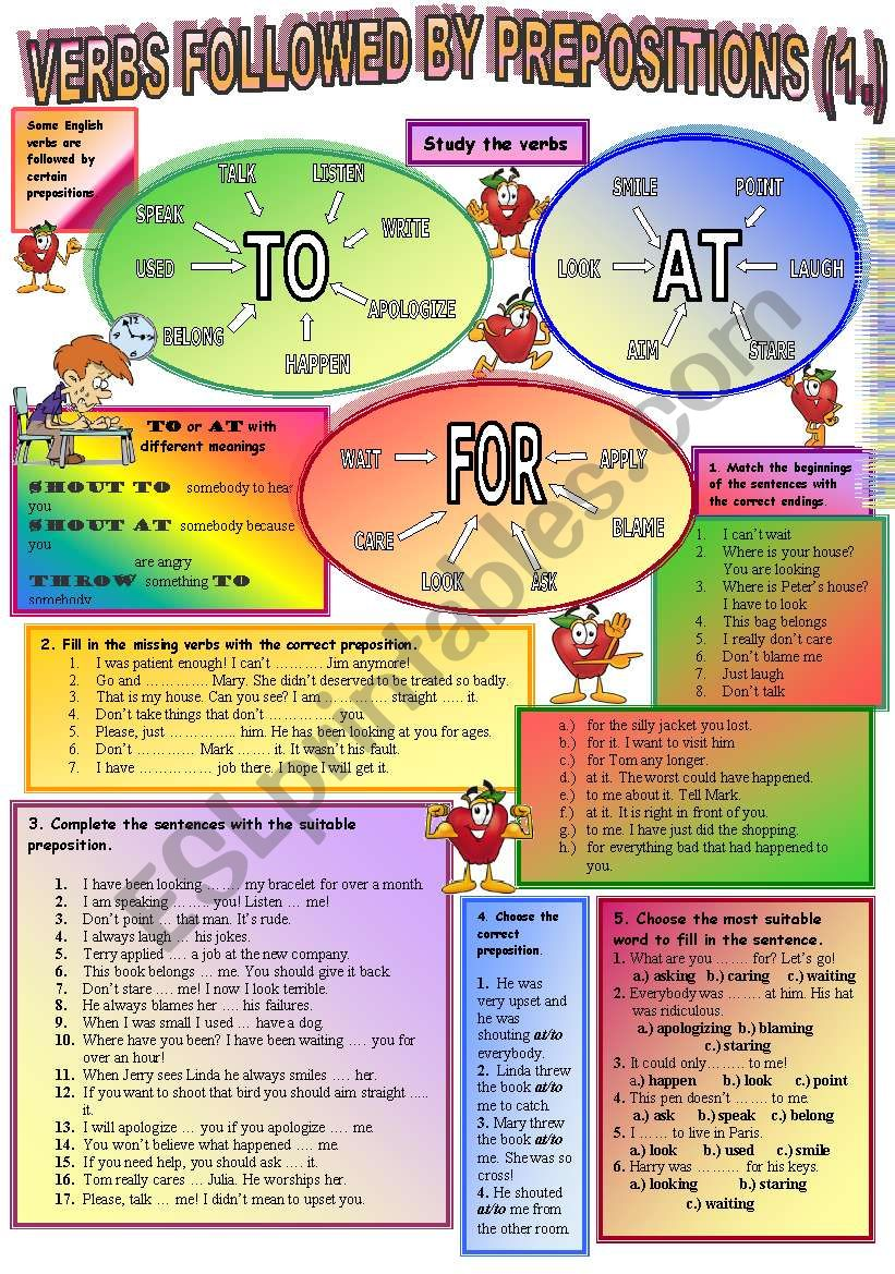 Verbs followed by prepositions (1.)
