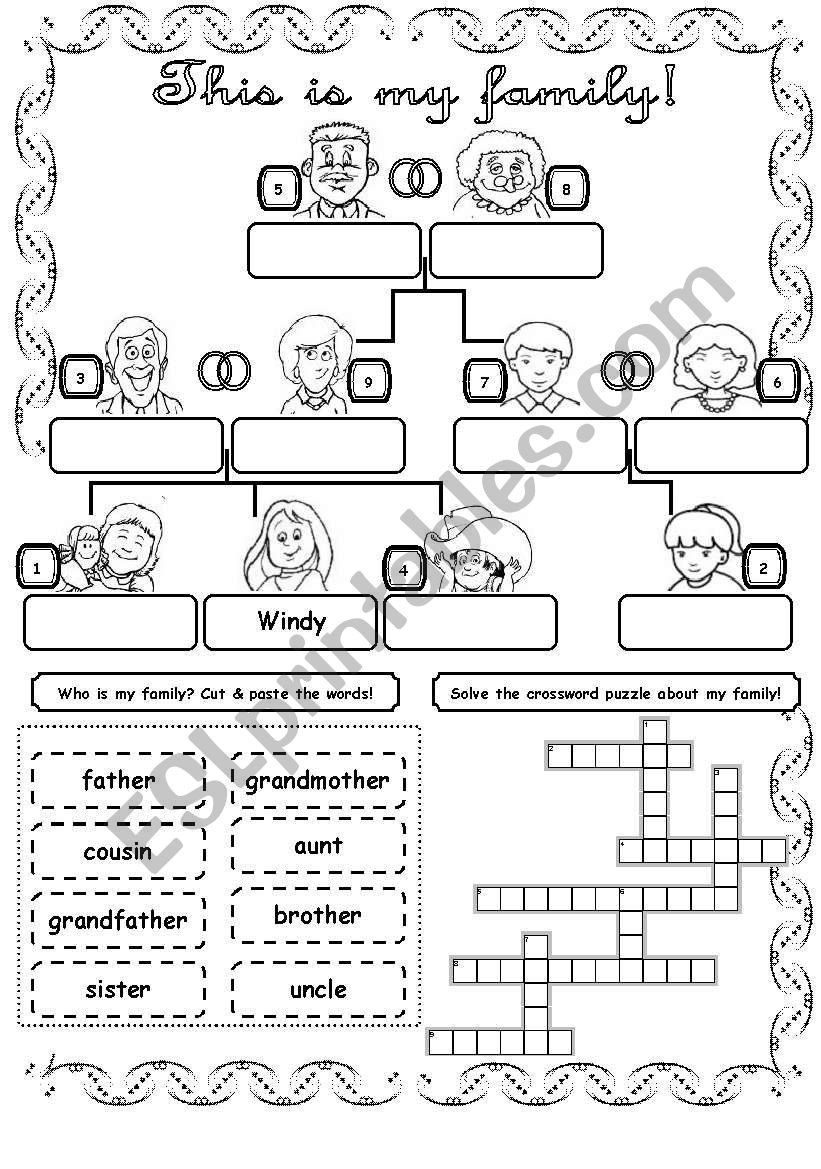 This is my family! (1) worksheet
