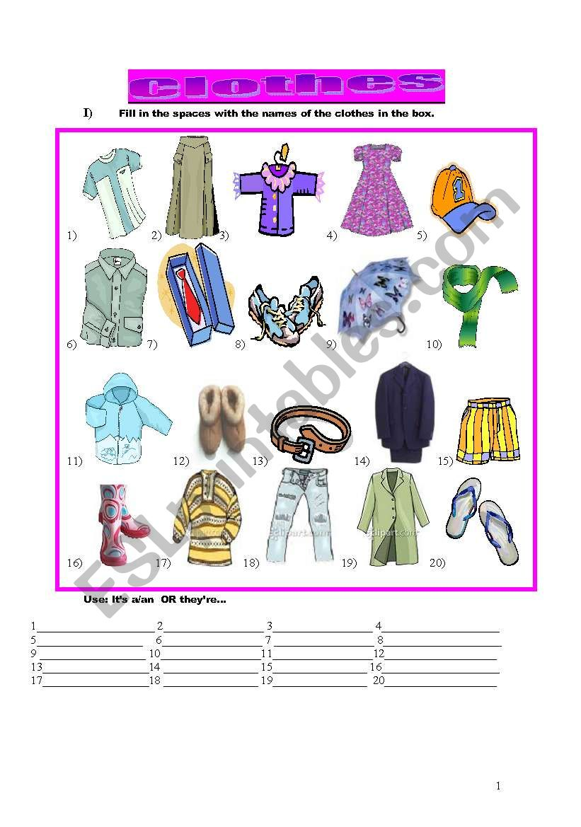 58435b4d3d1 Clothes and seasons - ESL worksheet by anyataide
