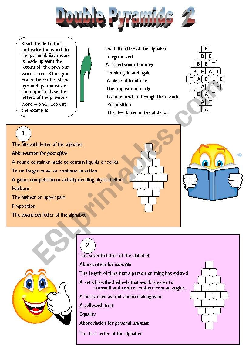 Double Pyramids 2 worksheet
