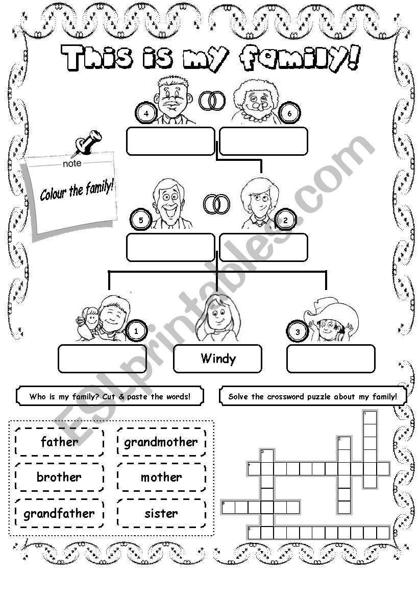 This is my family! (2) worksheet