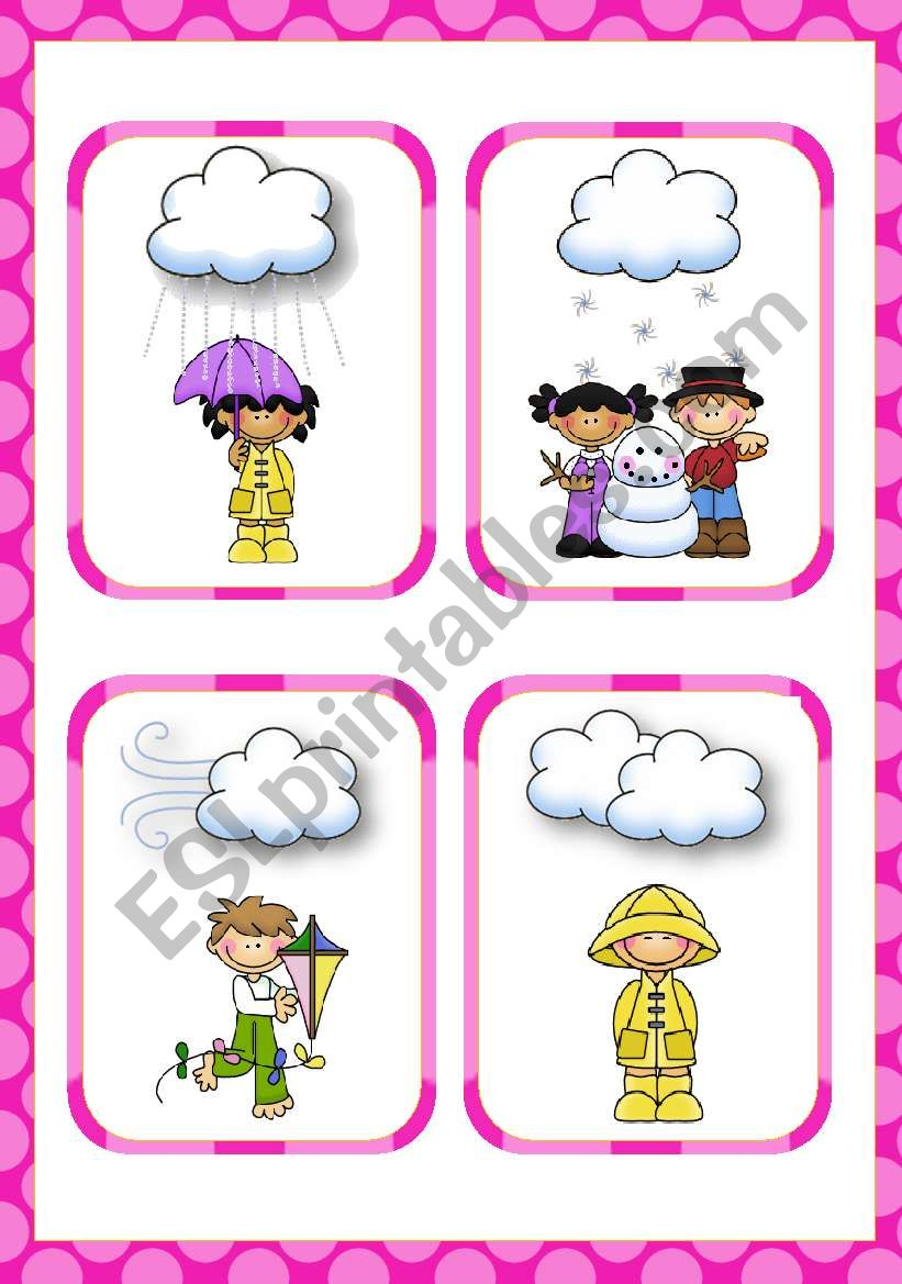 Weather Flashcards (14)  worksheet
